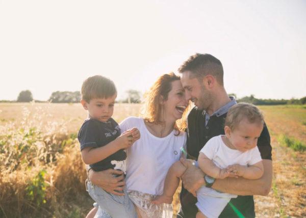 Shooting fotografico professionale di famiglie